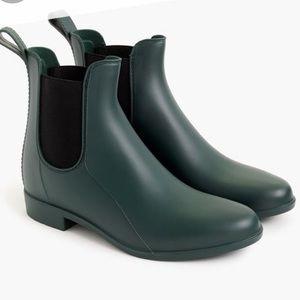 J.Crew NWOT Green Chelsea Weatherproof Boots